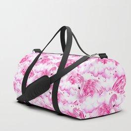 Dreamy Pink Flamingos in Watercolour Duffle Bag