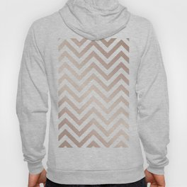 Chevron rose gold and white Hoody