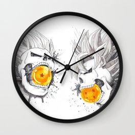 Death Crew - Vegeta and Goku Wall Clock