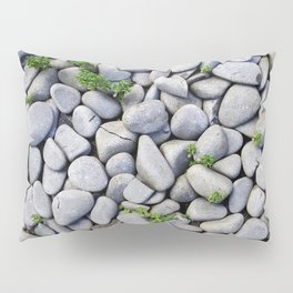 Sea Stones - Gray Rocks, Texture, Pattern Pillow Sham