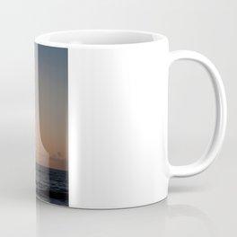 flight over ocean sunrise Coffee Mug