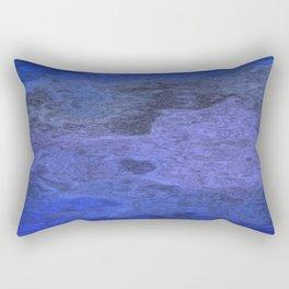 Flowing, blue Rectangular Pillow