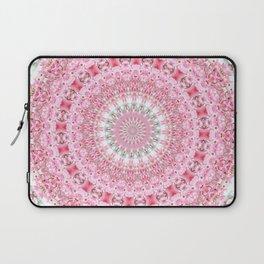 PRETTY PINK FLOWER MANDALA Laptop Sleeve