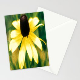 Vibrant Yellow Coneflower Stationery Cards