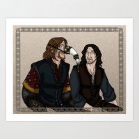 gondor Art Prints featuring Gondor Humour by wolfanita