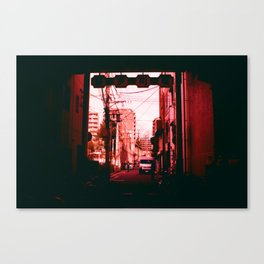 Out Towards a World in Red Canvas Print
