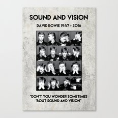 David Bowie : Sound and Vision Canvas Print