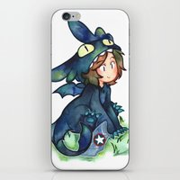 toothless iPhone & iPod Skins featuring toothless by noCek