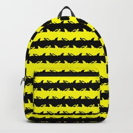 Bondi Beach Yellow and Black Shark Attack Beach Stripe Backpack
