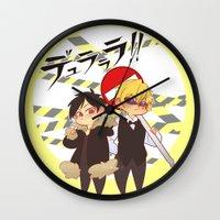 durarara Wall Clocks featuring Drrr!! by psych0tastic