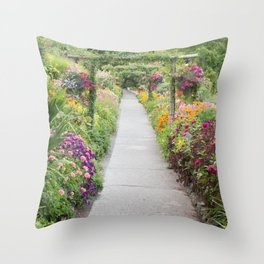 Floral Abundance Throw Pillow
