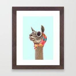 FASHION LAMA Framed Art Print