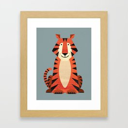 Whimsy Tiger Framed Art Print