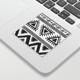 Tribal black and white Sticker
