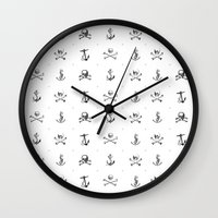 pirates Wall Clocks featuring Pirates by very giorgious