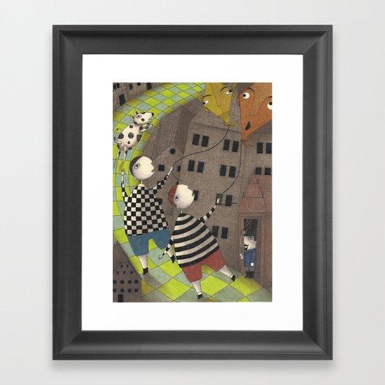 Night flight (3) Framed Art Print