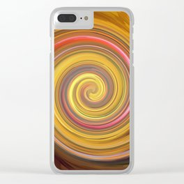 Swirls of digital paint Clear iPhone Case