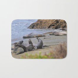 Elephant Seals Bath Mat