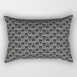 White circles Rectangular Pillow