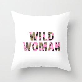 Wild Woman Throw Pillow