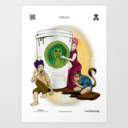 Caffiends: The Aficionado, the Cat, and the Spaz Art Print