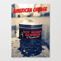 grease Canvas Prints featuring American grease by Vorona Photography