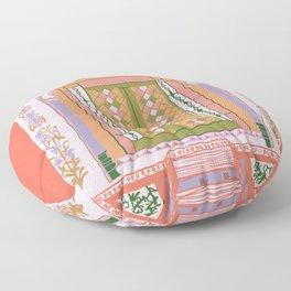 moroccan door in peach Floor Pillow