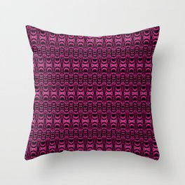 Dividers 07 in Purple over Black Throw Pillow