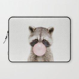 Bubble Gum Raccoon Laptop Sleeve