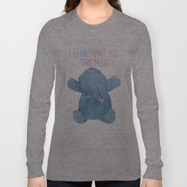 eLOVEphant Long Sleeve T-shirt