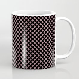 Black and Nostalgia Rose Polka Dots Coffee Mug