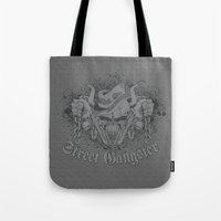 gangster Tote Bags featuring Street Gangster by MaNia Creations