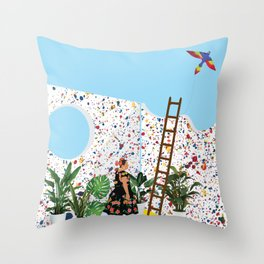 A bright day Throw Pillow