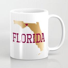 Florida Gold and Garnet with State Capital Typography Coffee Mug