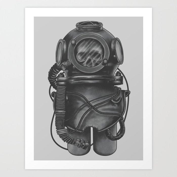 The Dead Diver Art Print