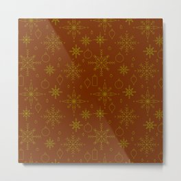 Golden Holiday Metal Print