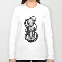 carnage Long Sleeve T-shirts featuring The Flower of Carnage by Giulio Rossi