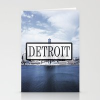 detroit Stationery Cards featuring Detroit Typography by Evan Smith