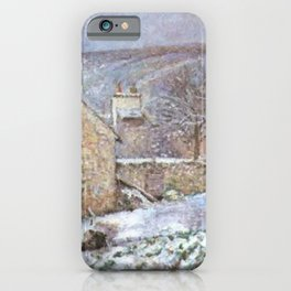 Snow At The Hermitage Pontoise 1874 By Camille Pissarro | Reproduction | Impressionism Painter iPhone Case