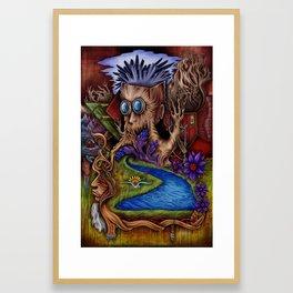 """Crystal Brain"" Framed Art Print"