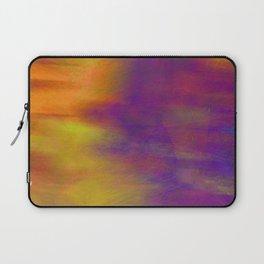 Purple Dawn abstract art  by Ann Powell Laptop Sleeve