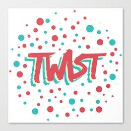 Twist N.9 Modele Rond Canvas Print
