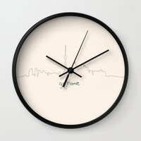 toronto Wall Clocks featuring Toronto  by JuniperFawkes