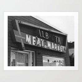 Alberta Meat Market Art Print
