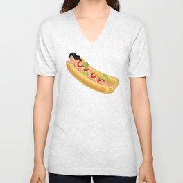 Hot Dog Girl Unisex V-Neck