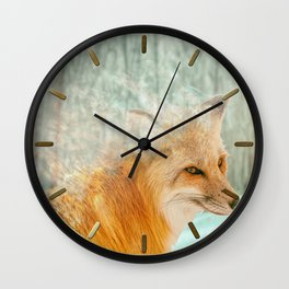 Spirit Fox Wall Clock