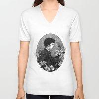 sherlock holmes V-neck T-shirts featuring SHERLOCK | POTO AU - Sherlock Holmes by inferno92000