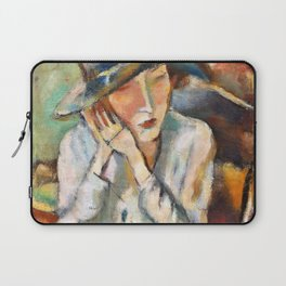 12,000pixel-500dpi - Jules Pascin - Ermine with the big hat - Digital Remastered Edition Laptop Sleeve
