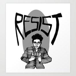 Resist Rosa Parks Art Print