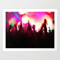 rave Art Prints featuring rave by xp4nder